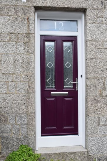Purple Composite Door, Newlyn